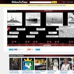 Create timeline and share it on the web - whenintime