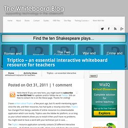 Triptico - an essential interactive whiteboard resource for teachers