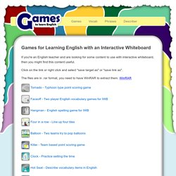 Interactive Whiteboard Games
