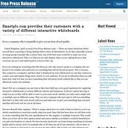 Provides their customers News: Smartplc.com provides their customers with a variety of different interactive whiteboards
