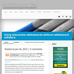 Using interactive whiteboards without whiteboard software