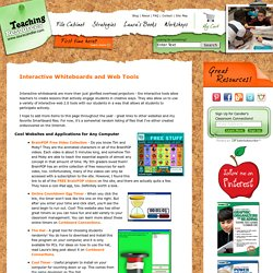 Interactive Whiteboards and Web Tools