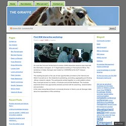 First IKM Interactive workshop « The giraffe