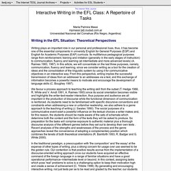 Massi - Interactive Writing in the EFL Class: A Repertoire of Tasks