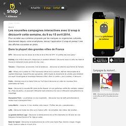 Les campagnes interactives : toute l'actualité de l'application U snap by JCDecaux