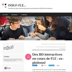 Des BD interactives en cours de FLE : exploitons!