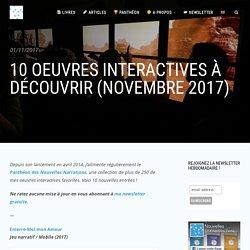 10 oeuvres interactives à découvrir (novembre 2017)
