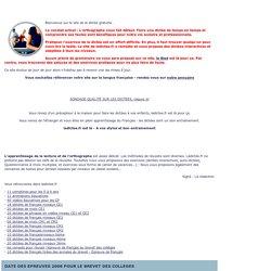 dictees sonores et audios ou videos FLE en francais interactives gratuites CP, CE1, CE2, CM1, CM2, 6eme, 5eme, 4eme, 3eme, lean french