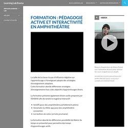 Formation : pédagogie active et interactivité en amphithéâtre