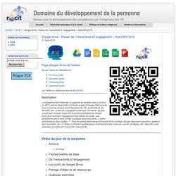Google Drive : Passer de l'interactivité à l'engagement – AQUOPS 2015