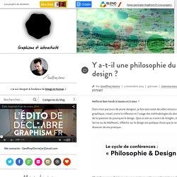Y a-t-il une philosophie du design ?