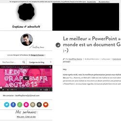 Le meilleur «PowerPoint» du monde est un document Google :-)