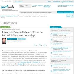 Favoriser l'interactivité en classe de façon intuitive avec Wooclap