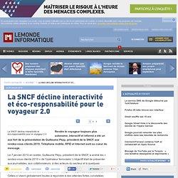 La SNCF décline interactivité et éco-responsabilité pour le voya