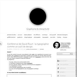 Conférence de David Rault : la typographie comme un outil de design.