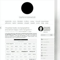 Visualisez toutes vos typographies directement depuis votre navigateur