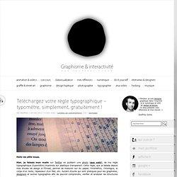 Règle typographique – typomètre, simplement, gratuitement !