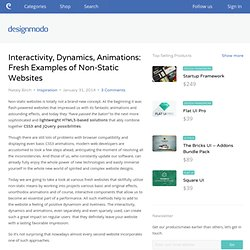 Interactivity, Dynamics, Animations: Fresh Examples of Non-Static Websites