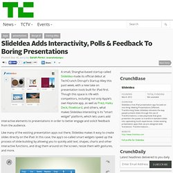 SlideIdea Adds Interactivity, Polls & Feedback To Boring Presentations