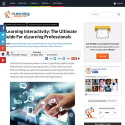 eLearning Interactivity: The Ultimate Guide For eLearning Professionals