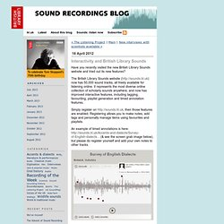 Interactivity and British Library Sounds - Sound Recordings