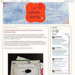 Cuaderno Interactivo Estudiantil (Interactive Student Notebook -ISN)