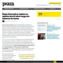 Mapa interactivo: explora os salarios dos 63 altos cargos do Goberno da Xunta