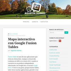 Mapa interactivo con Google Fusion Tables