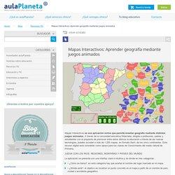 Mapas Interactivos: Aprender geografía mediante juegos animados - aulaPlaneta