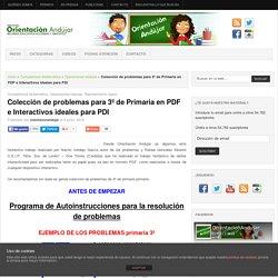 Colección de problemas para 3º de Primaria en PDF e Interactivos ideales para PDI -Orientacion Andujar