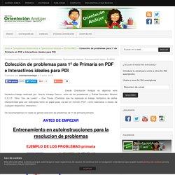 Colección de problemas para 1º de Primaria en PDF e Interactivos ideales para PDI -Orientacion Andujar