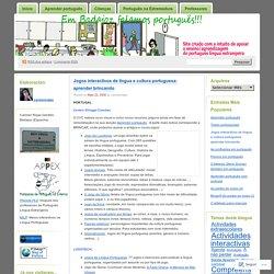 Jogos interactivos de língua e cultura portuguesa: aprender brincando