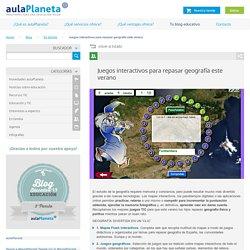 Juegos interactivos para repasar geografía este verano