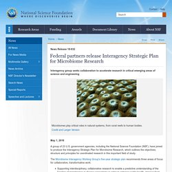Federal partners release Interagency Strategic Plan for Microbiome Research