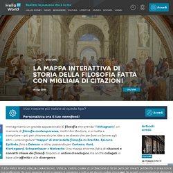 La mappa interattiva di storia della filosofia fatta con migliaia di citazioni