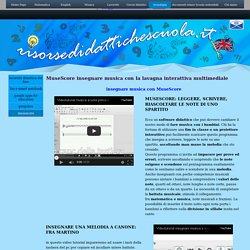 MuseScore insegnare musica con la lavagna interattiva multimediale