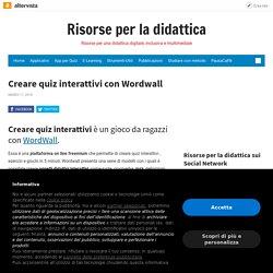 Creare quiz interattivi con Wordwall