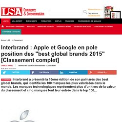 Interbrand : Apple et Google en pole position...