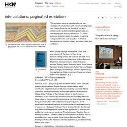 intercalations: paginated exhibition