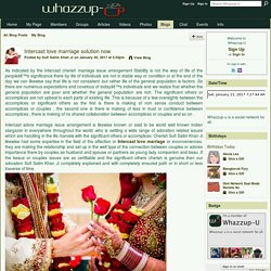 Intercast love marriage solution now - Whazzup-U