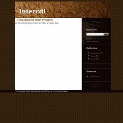 Inter CDI N° 179: projet de circulaire 2001