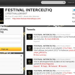 FESTIVAL INTERCELTIK (FESTIVALLORIENT) on Twitter