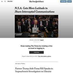 N.S.A. Gets More Latitude to Share Intercepted Communications