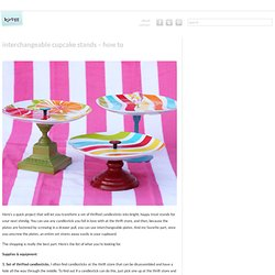 How To Make Interchangeable Cupcake Stands