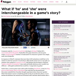 What if 'he' and 'she' were interchangeable in a game's story?