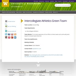 Intercollegiate Athletics Green Team