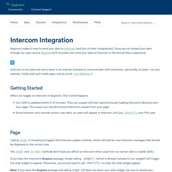 Intercom Integration - Segment