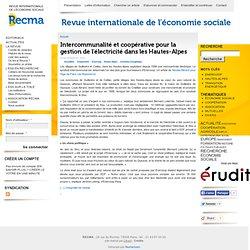 Intercommunalité et coopérative pour la gestion de l'électricité dans les Hautes-Alpes