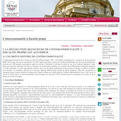 L'intercommunalité à fiscalité propre