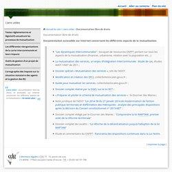 Intercommunalité et mutualisation des services - Liens utiles - Documentation libre de droits